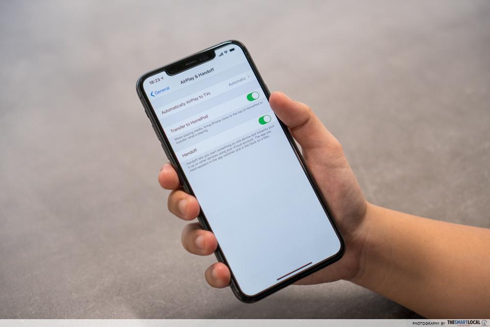 handoff iphone 11
