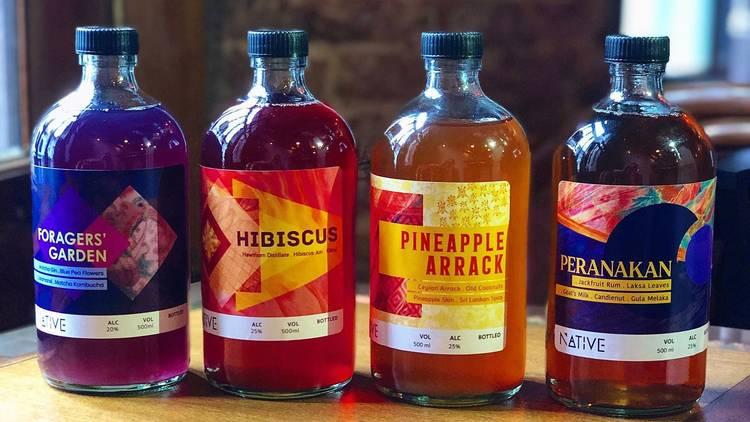 native bar cocktails