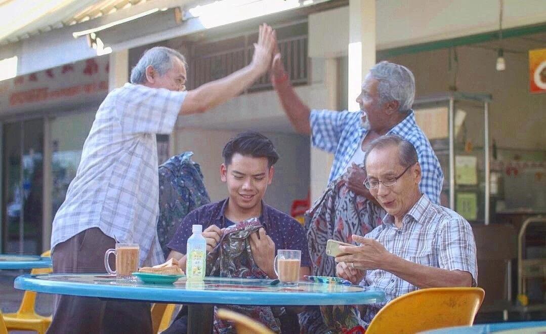 elderly covid-19 friends