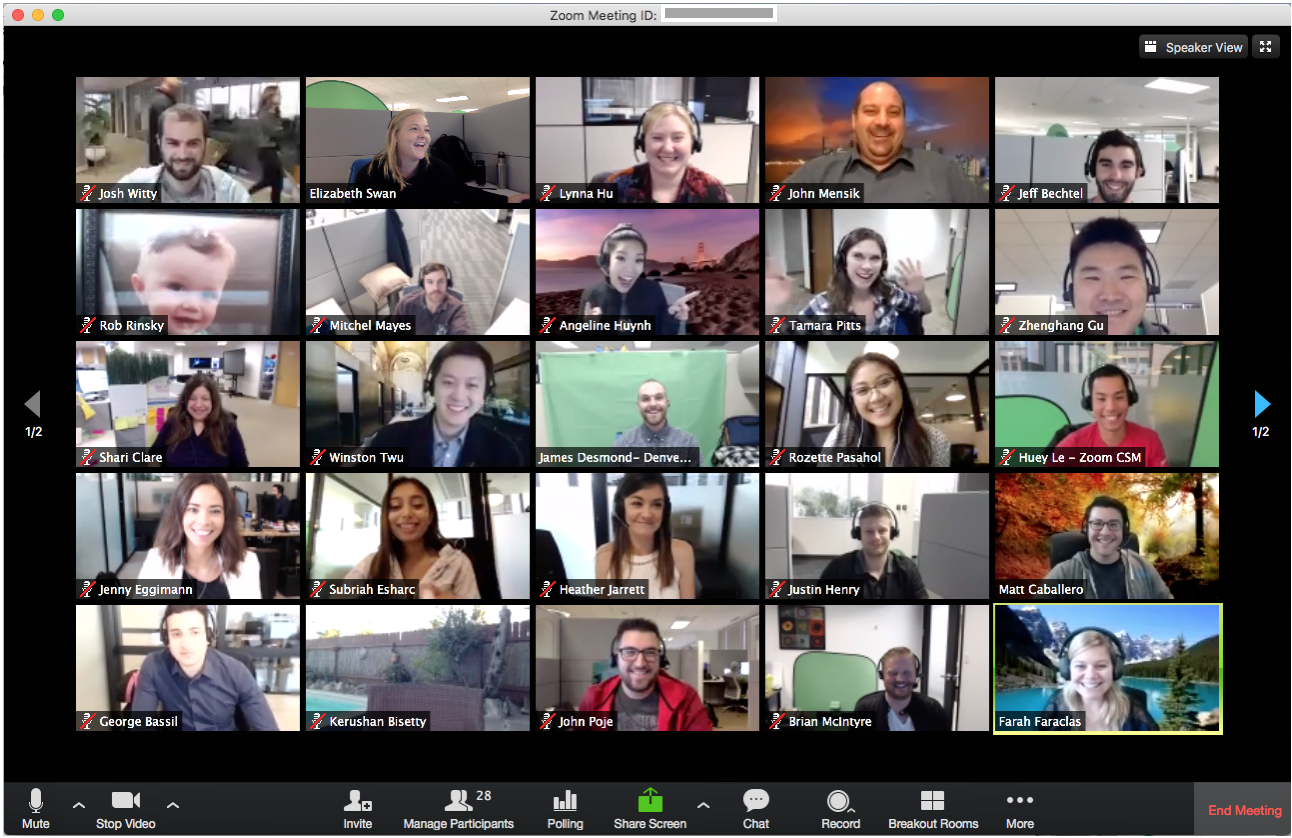 Zoom's grid layout makes video conferencing and video calls so much more engaging.