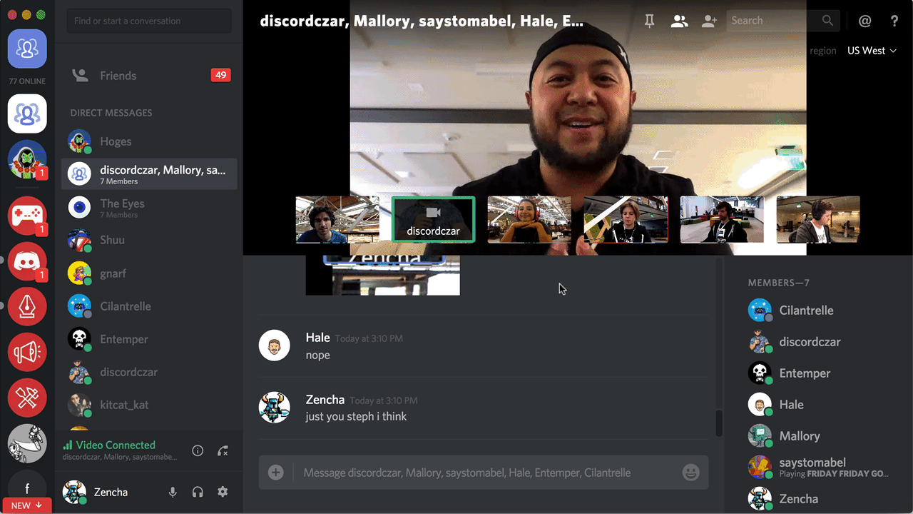 Discord is a video calling app available in Singapore