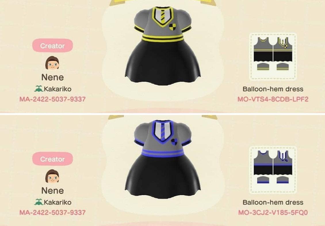 harry potter dresses design IDs