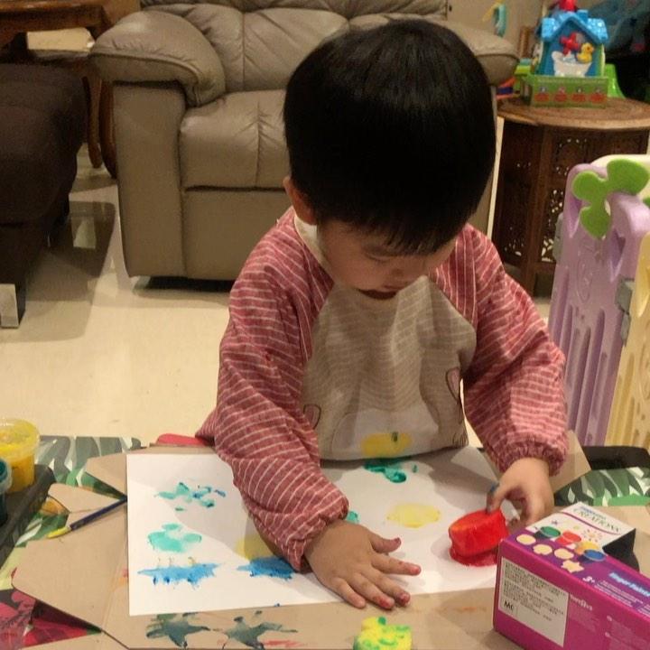 Sponge Art Craft Kids
