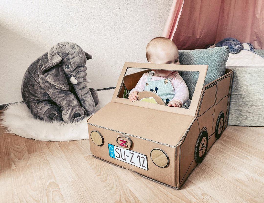 Cardboard Box Car Kids Craft