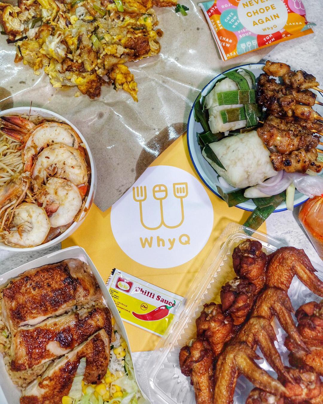 WhyQ Hawker Delivery Singapore