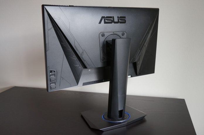 You can adjust the Asus VG245H computer monitor for long-term comfort while gaming.