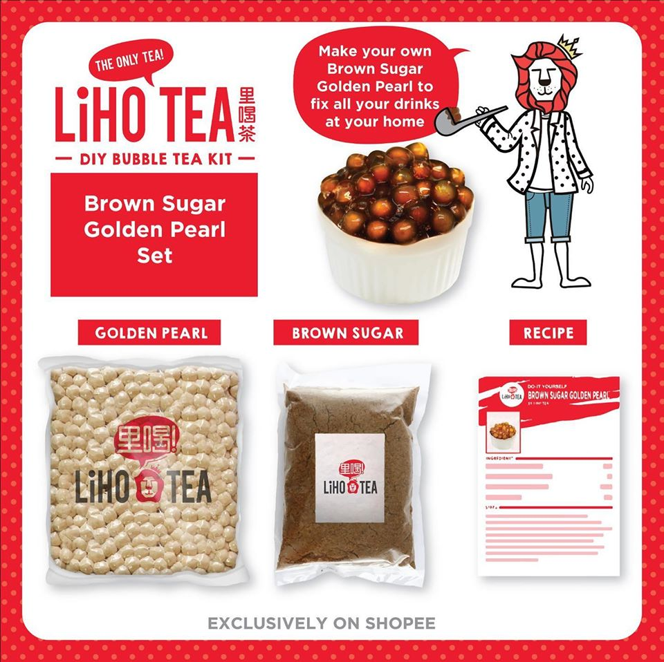 LiHO brown sugar set - DIY bubble tea kits