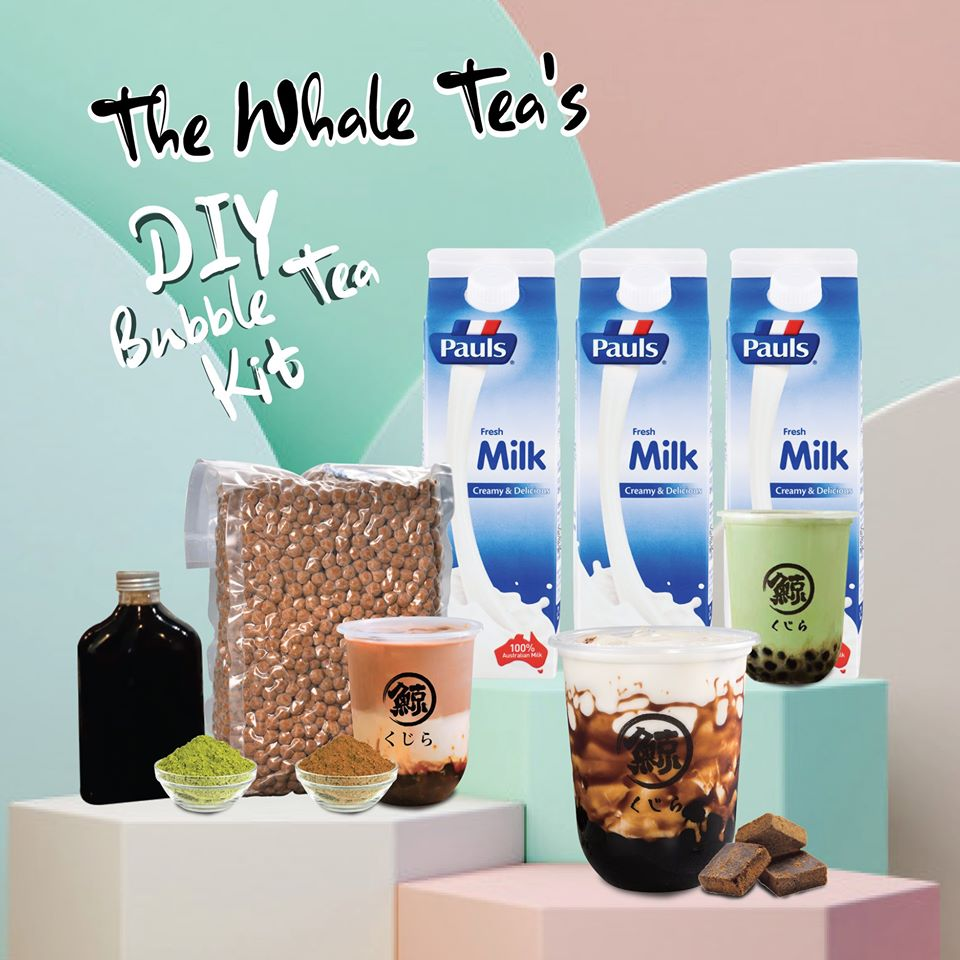 The Whale Tea DIY bubble tea kit
