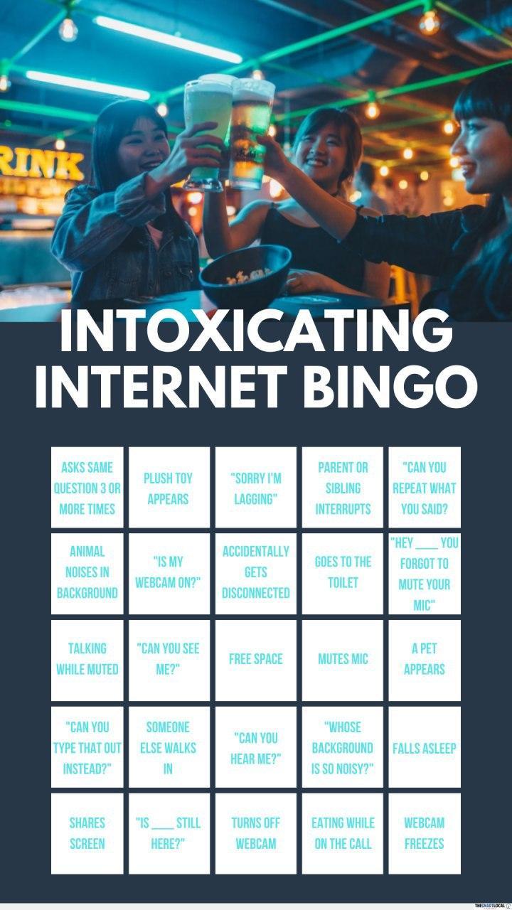 internet bingo - online drinking games