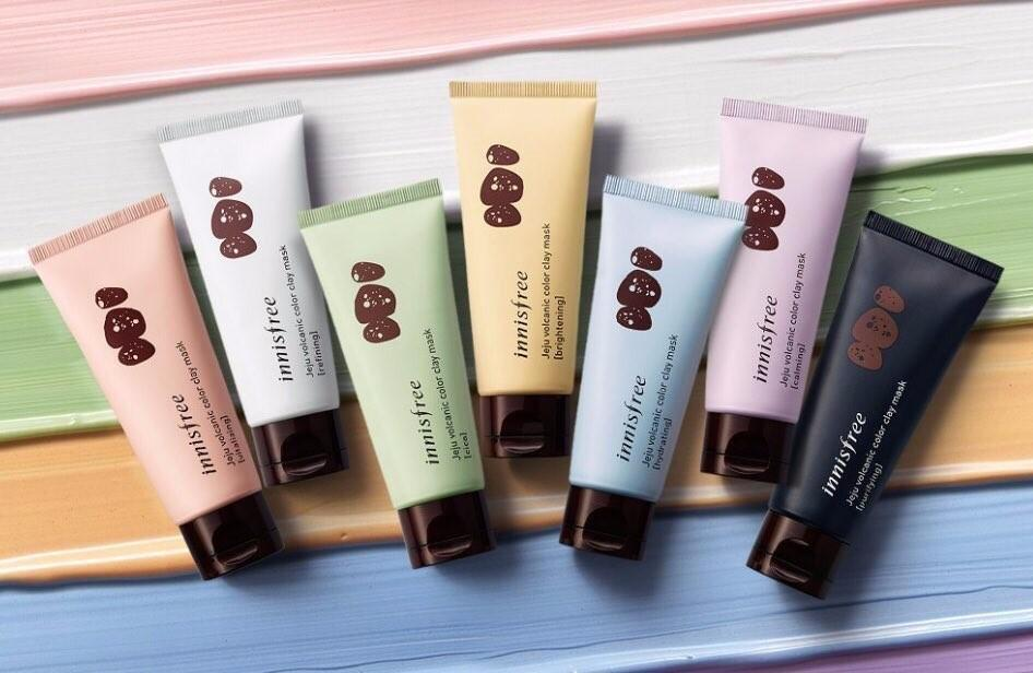 Innisfree colour clay mask - affordable home spa items