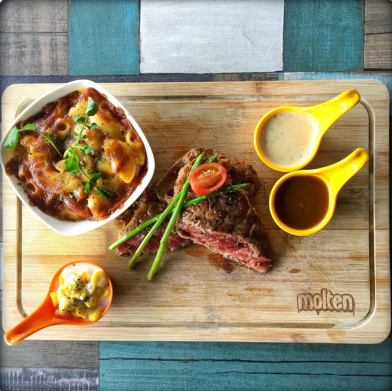 molten diners steak