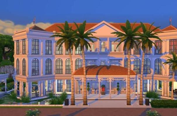 raffles hotel sims 4