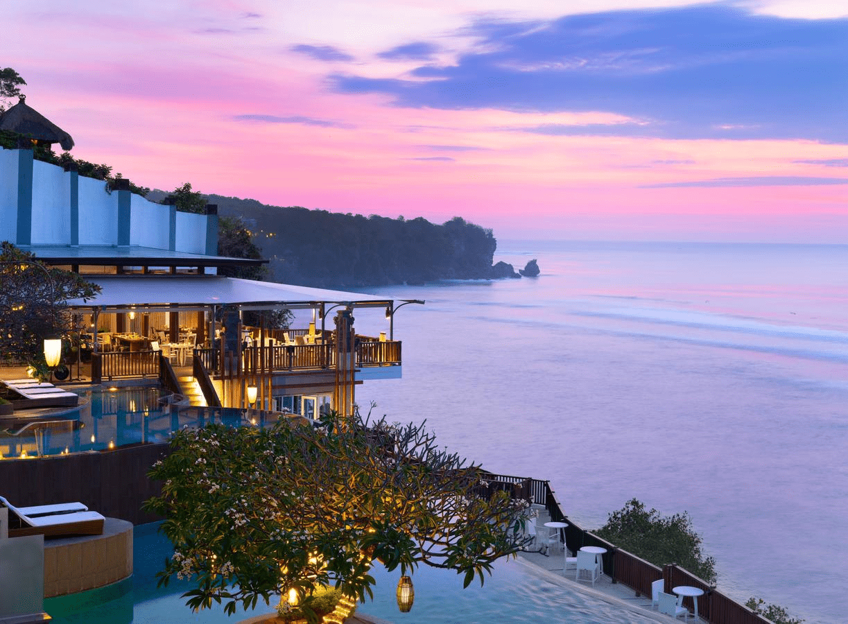 bali resort sunset