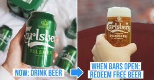 Carlsberg free pint