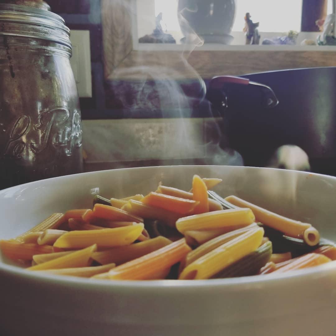 steaming food