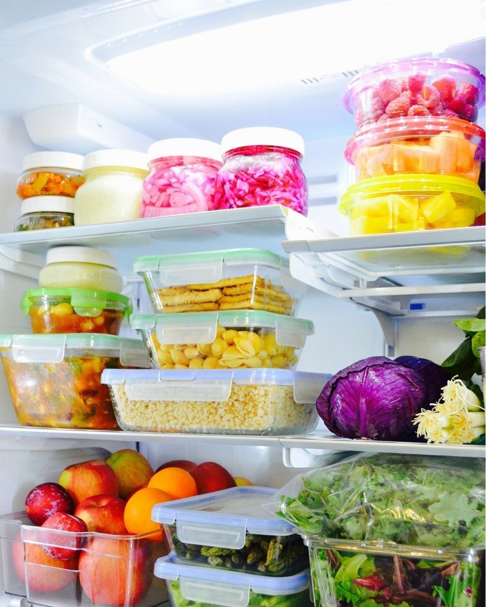 food storage in containers