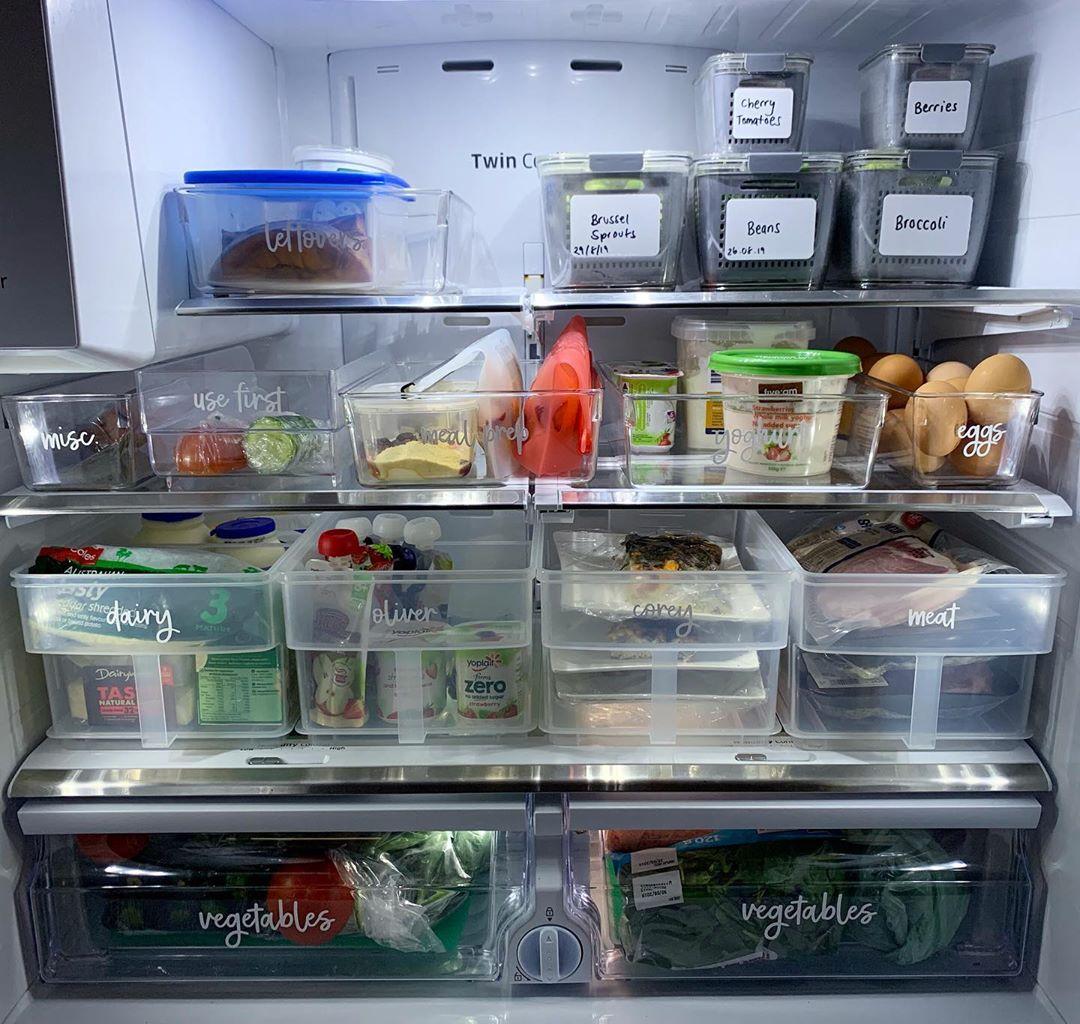 food storage: labelling food