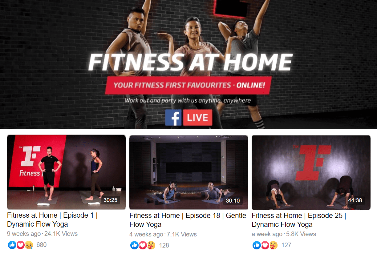 Fitness First Live Stream Online Classes