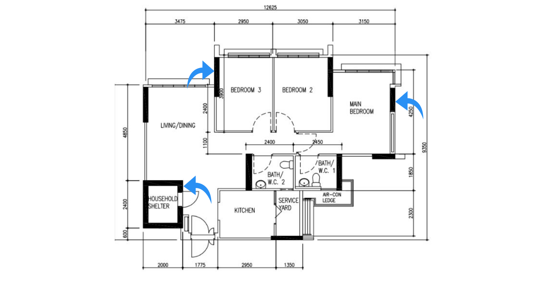 hdb floorplan