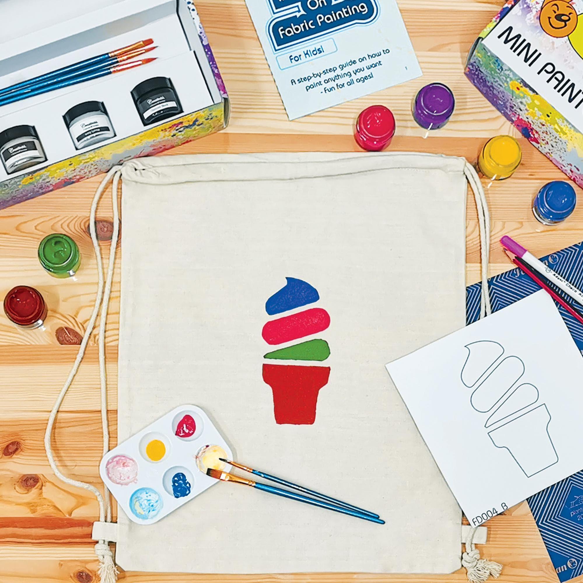Streaks n Strokes Customised Drawstring Bag Painting