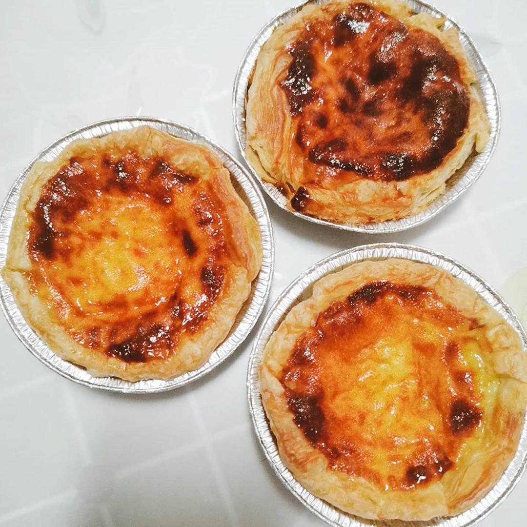 air fryer Portuguese egg tarts