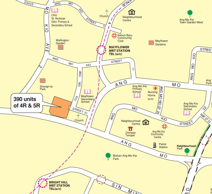 The Ang Mo Kio August BTO launches are located between two MRT stations and next to a secondary school.