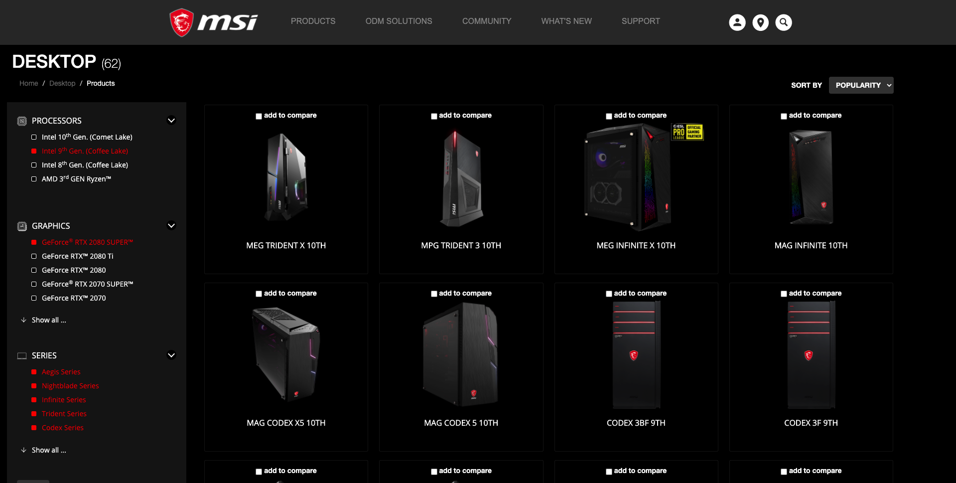 MSI, along with several gaming brands, offer customisation portals on their websites offering a wide variety of options.
