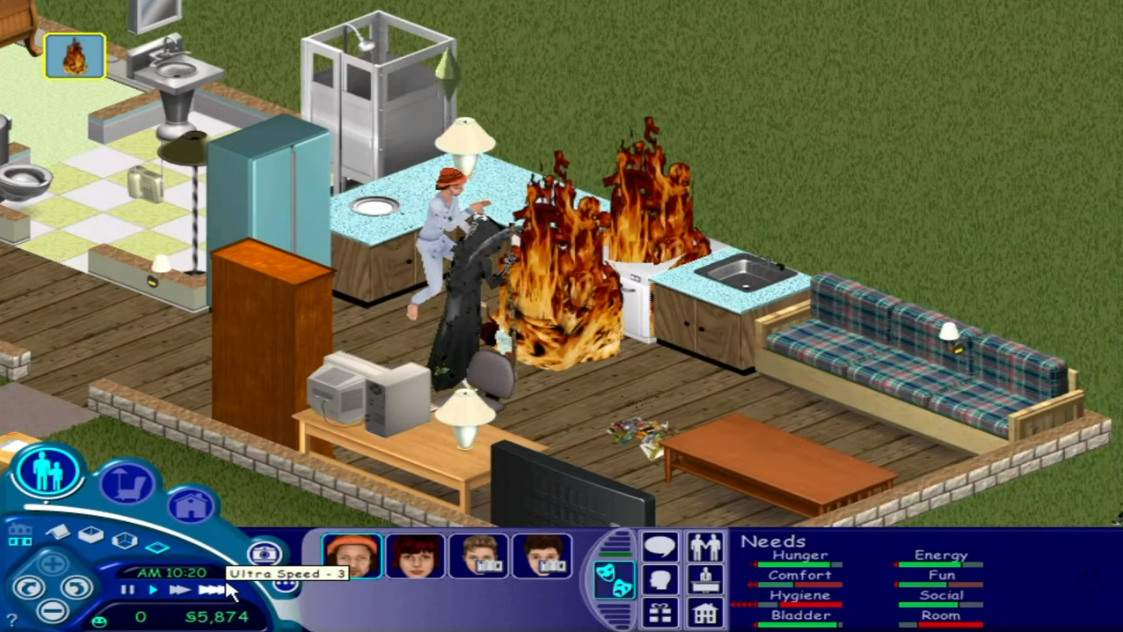 The Sim fire