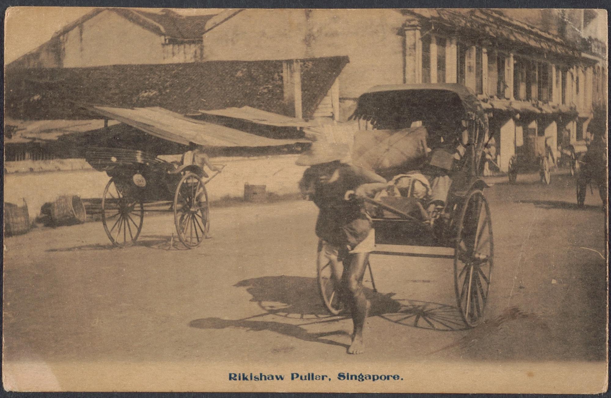 rickshaw puller singapore