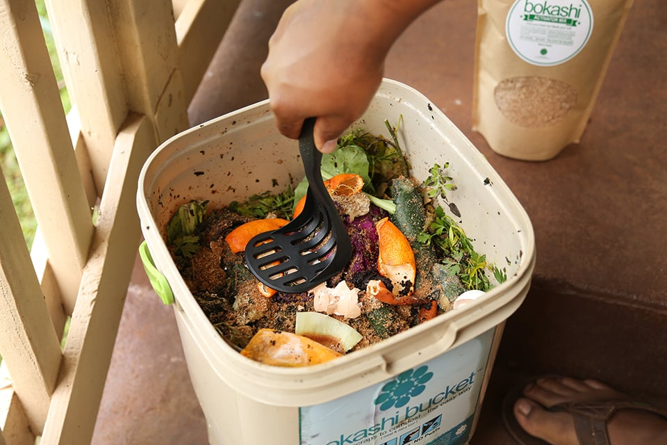 If there's plenty of food prep at home, it would be a mistake not to use compost when gardening.