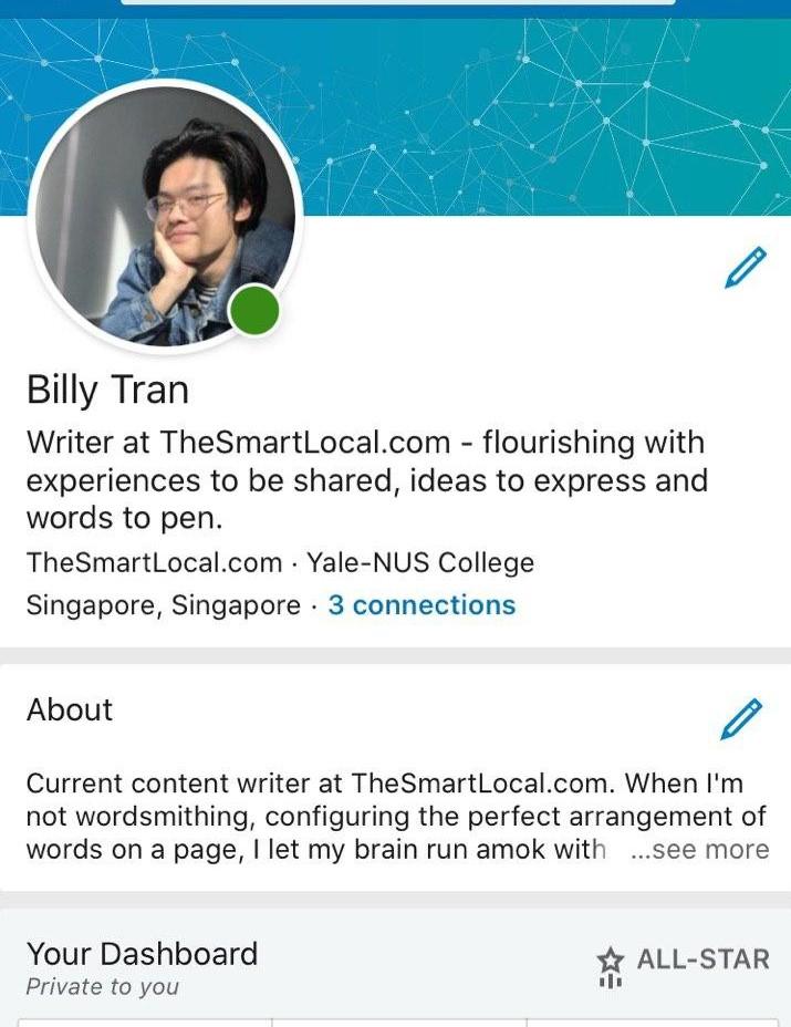 linkedin optimising profile