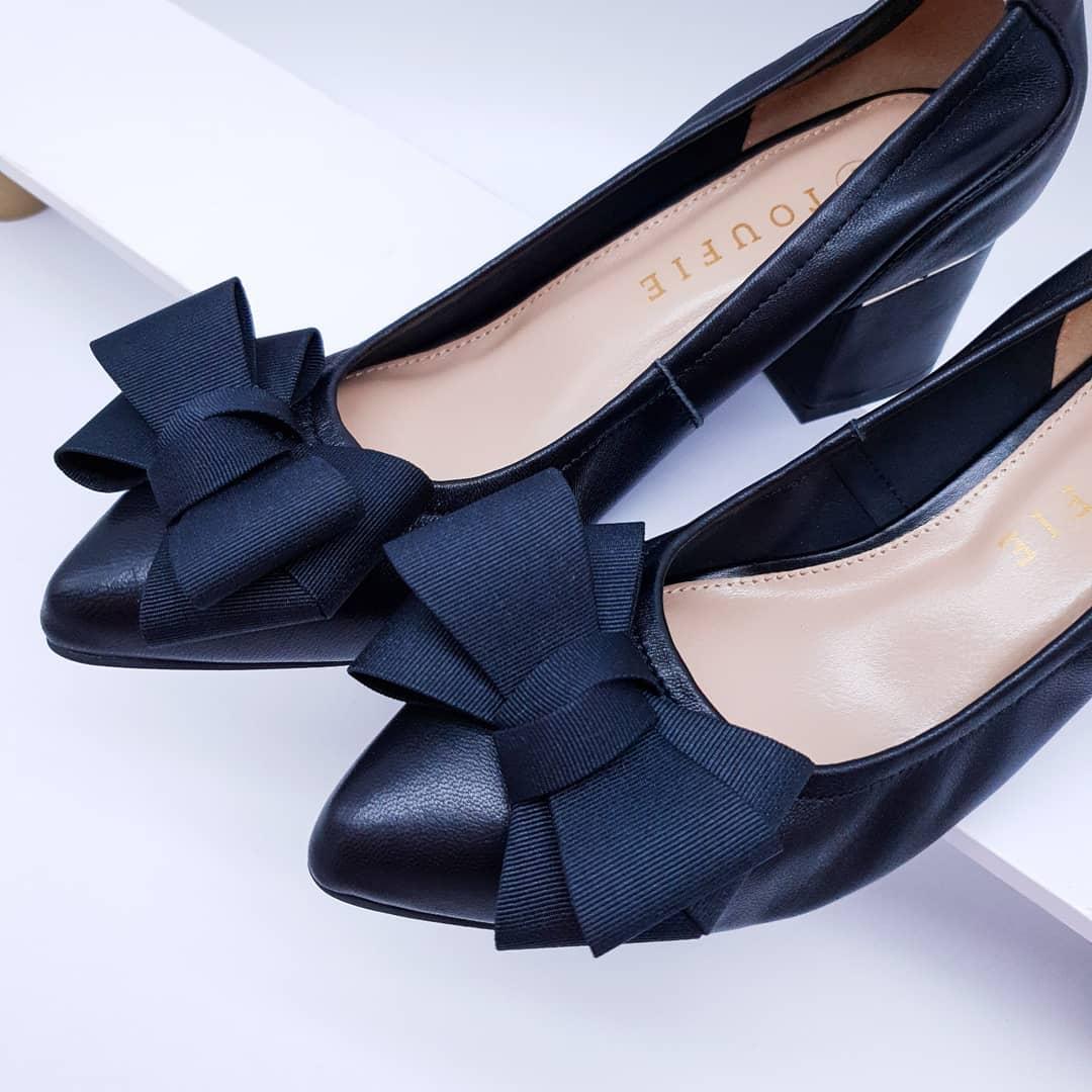 toufie bow black shoes