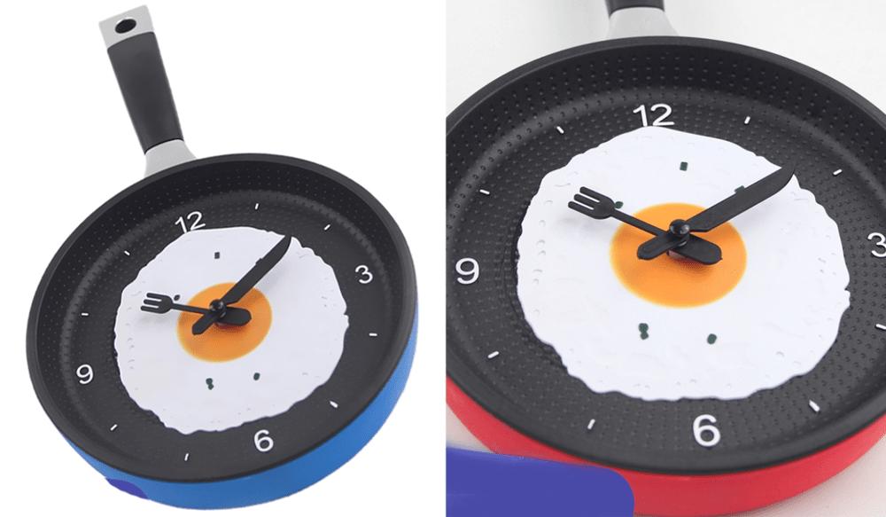 Modern Wall Clocks - Cute Frying Pan Design