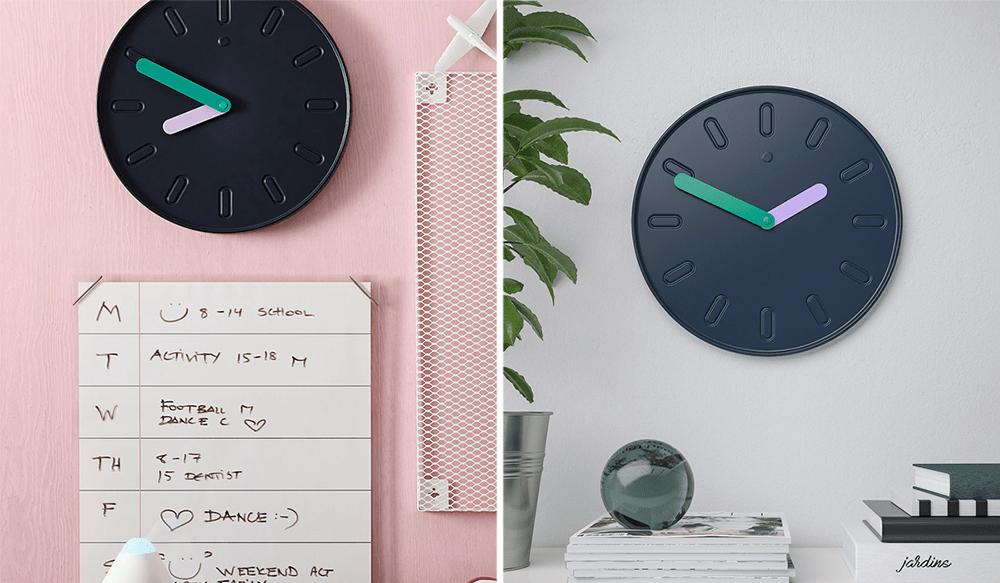 Modern Wall Clocks - IKEA Slipsten Colour Block Design