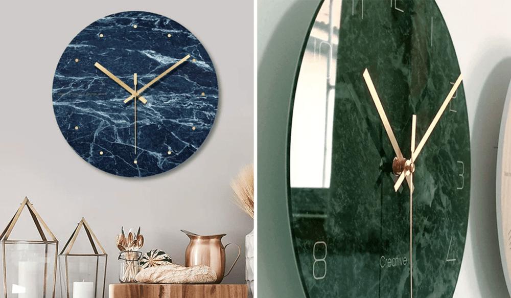 Modern Wall Clocks - Marble Design