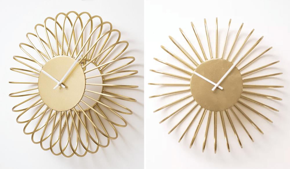 Modern Wall Clocks - Hooga Gyda Gold Design