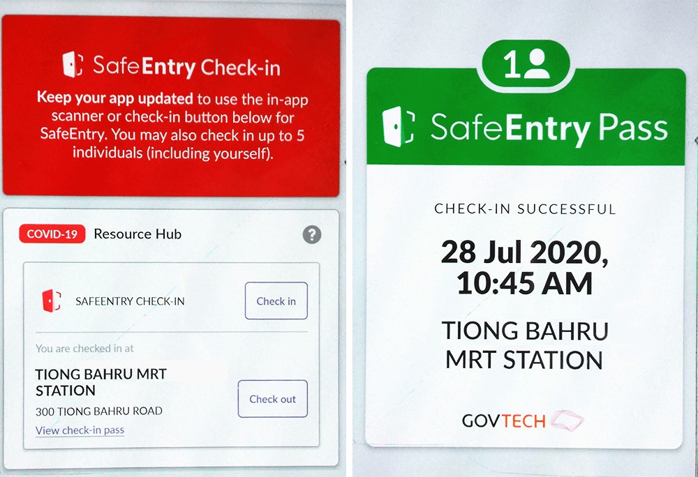 Public Transport Hacks - SingPass Mobile SafeEntry Pass