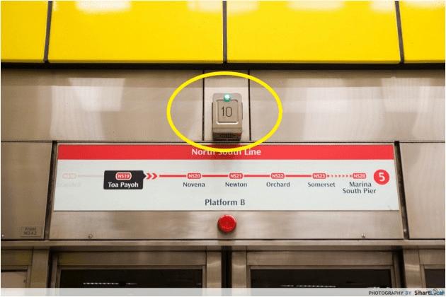 Public Transport Hacks - MRT Door Number
