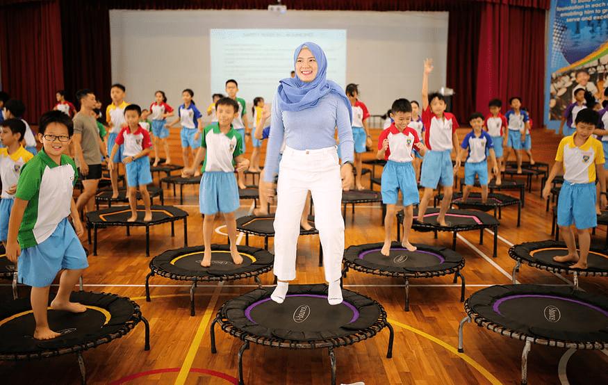 School Experiences in Singapore - Trampoline CCA