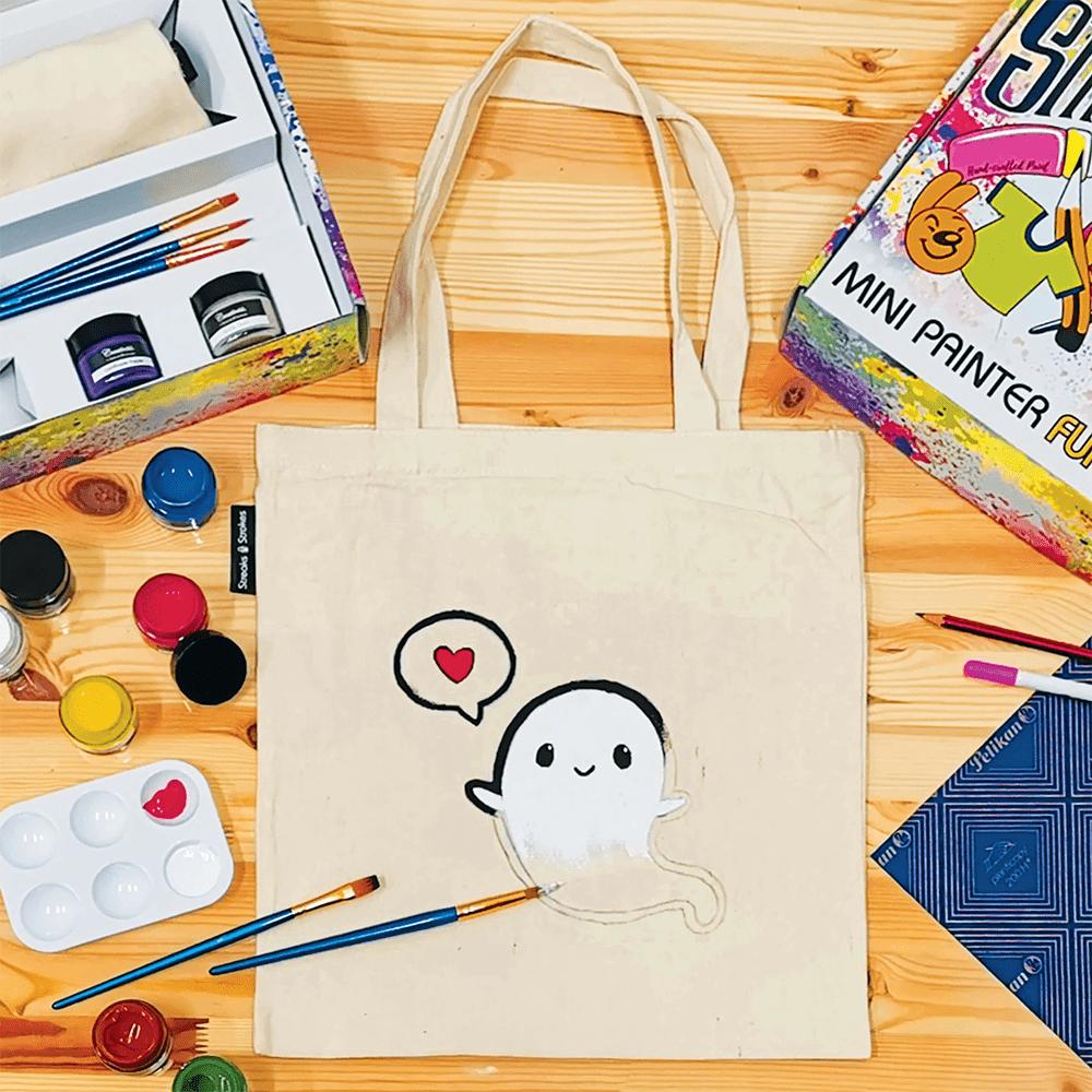 Streaks n Strokes DIY Painting Kit - Customised Tote Bag