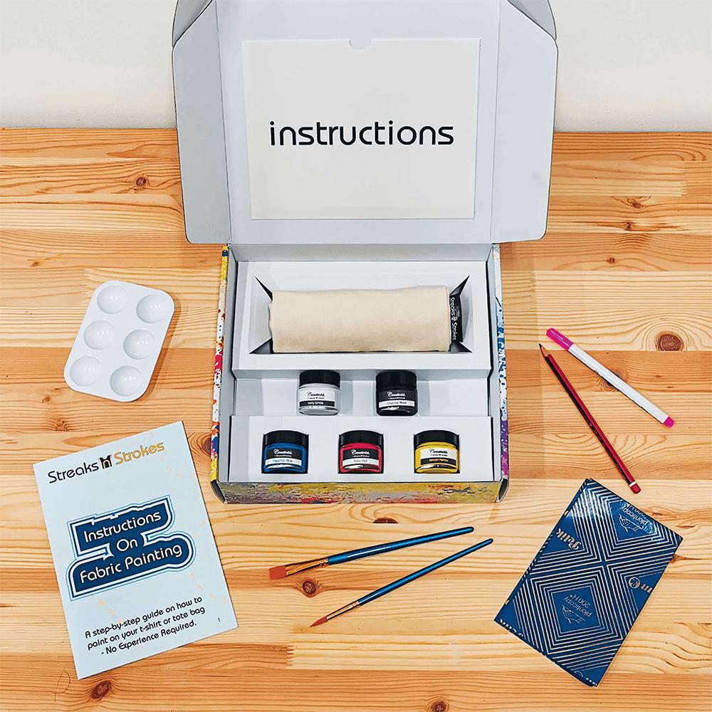 Streaks n Strokes DIY Painting Kit - Paints Brush