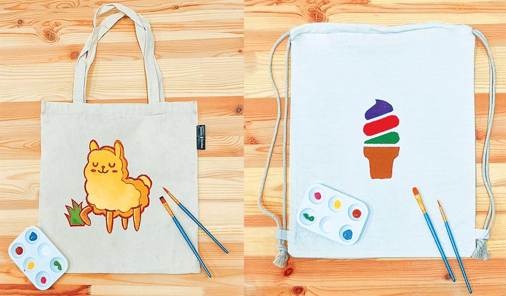 Streaks n Strokes DIY Painting Kit - Tote Bag Drawstring Backpack
