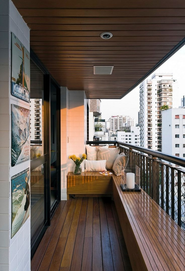 small balcony ideas singapore - perimeter benches expand your living room into the outdoors.