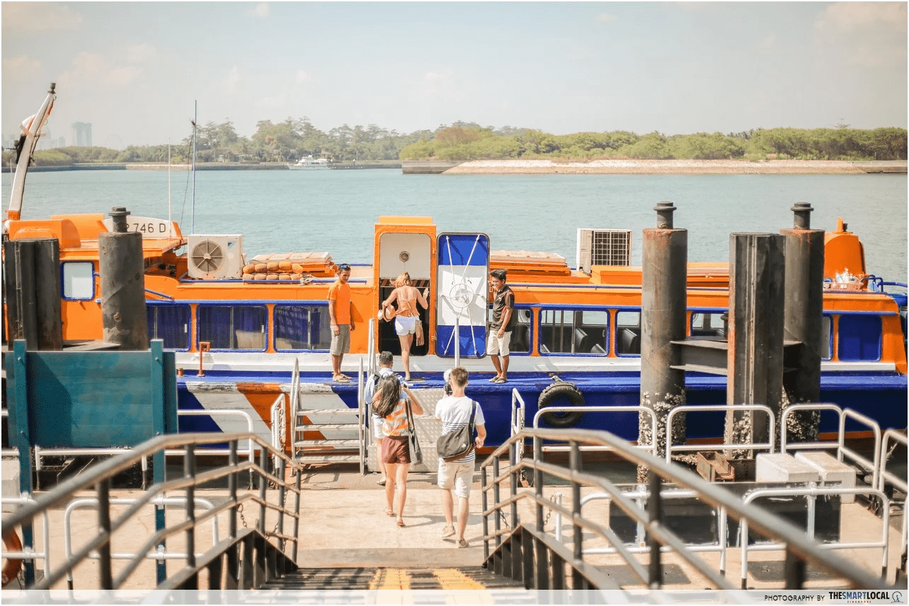 best-beaches-in-singapore - st johns island ferry
