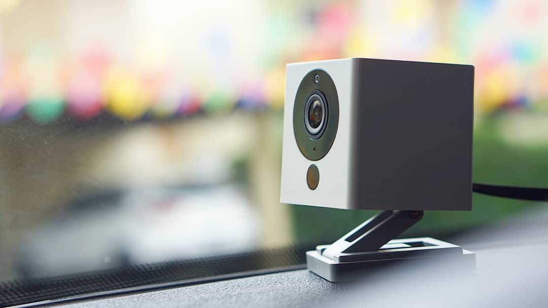 best indoor cctv cameras - the Wyze Cam V2 has an adjustable mount and doubles as a webcam on top of being an affordable security camera.