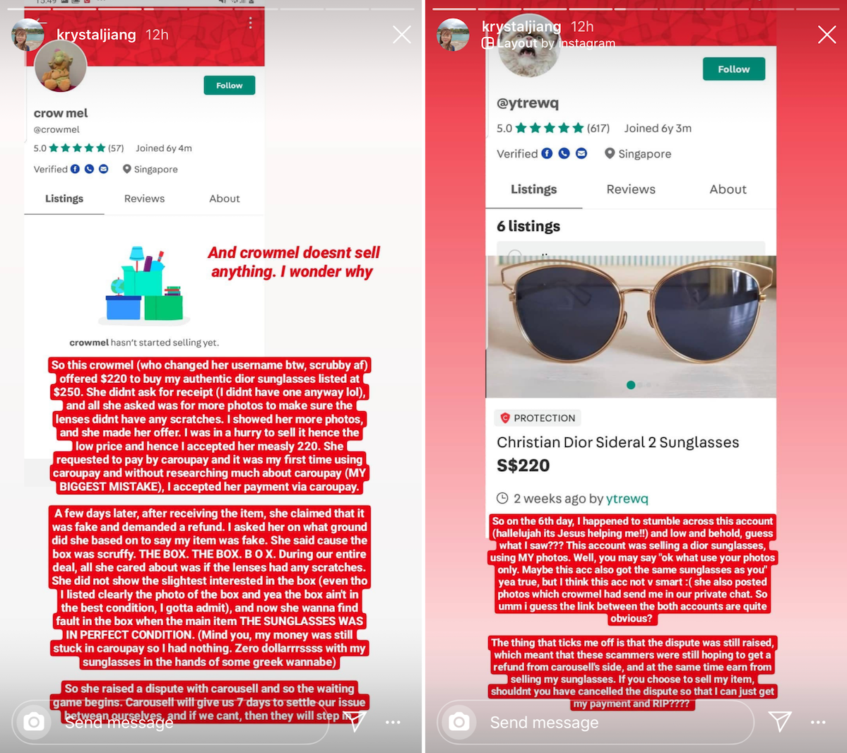 common scams in Singapore - Carousell scams using Caroupay to refund payment.