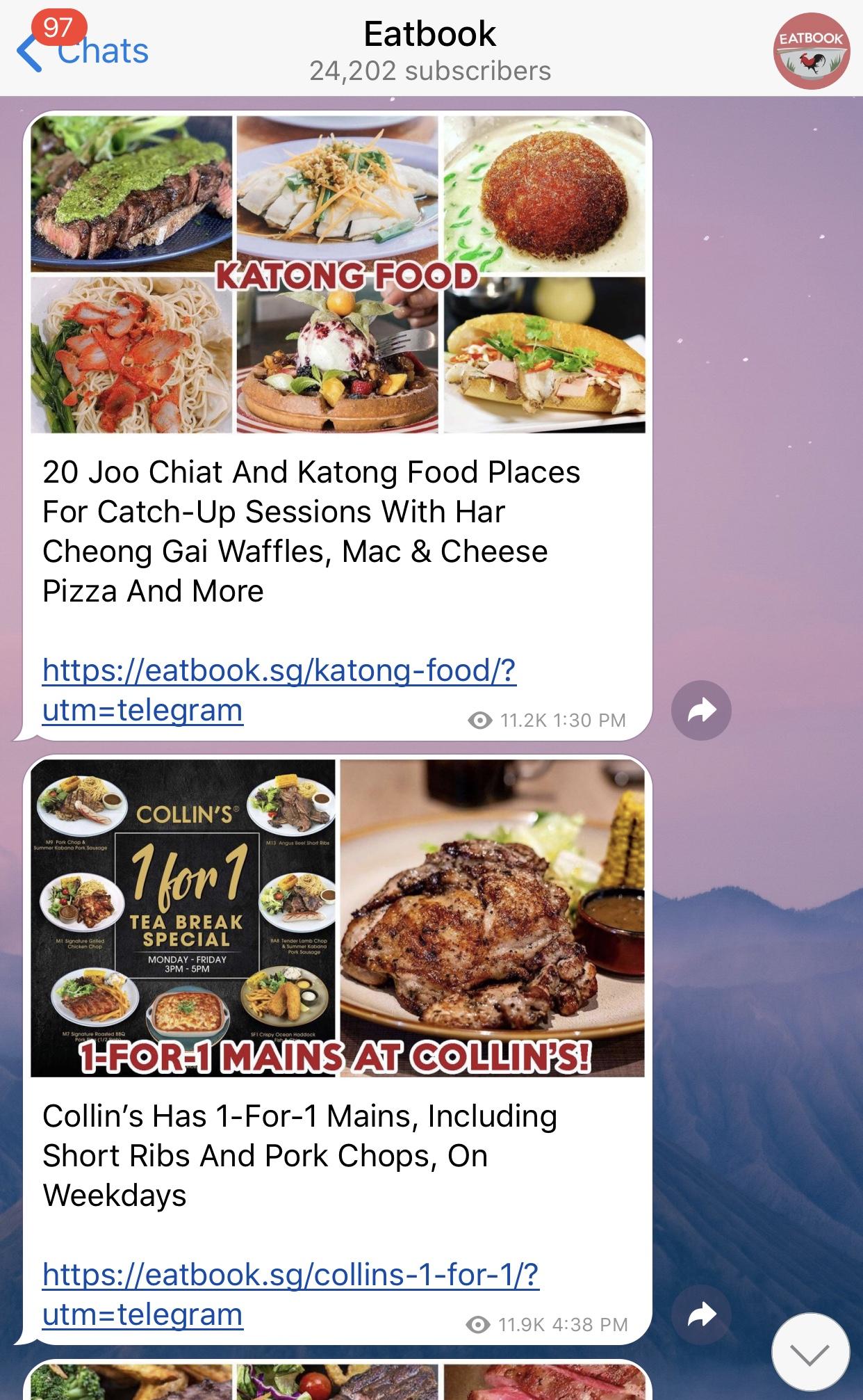 telegram - @eatbooksg