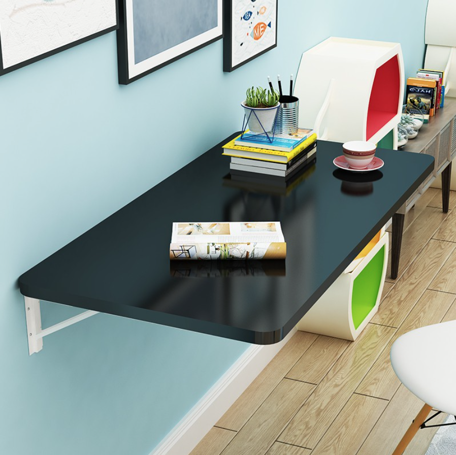 Tables that fold against the wall lets you minimise setup time.