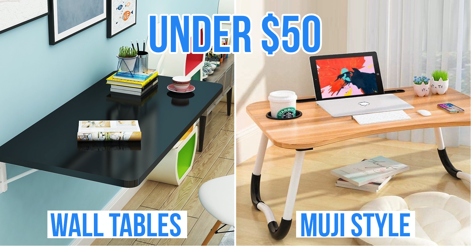 8 Foldable Study Tables In Singapore Under 50 To Save Space In Smaller Hdbs