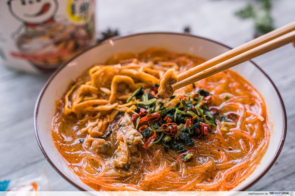 Hai Chi Jia Review - Hua Jia Fen with la la clams